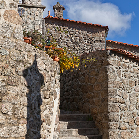 Staircase near the Fonte da Rosa Street, Jewish Quarter of Belmonte