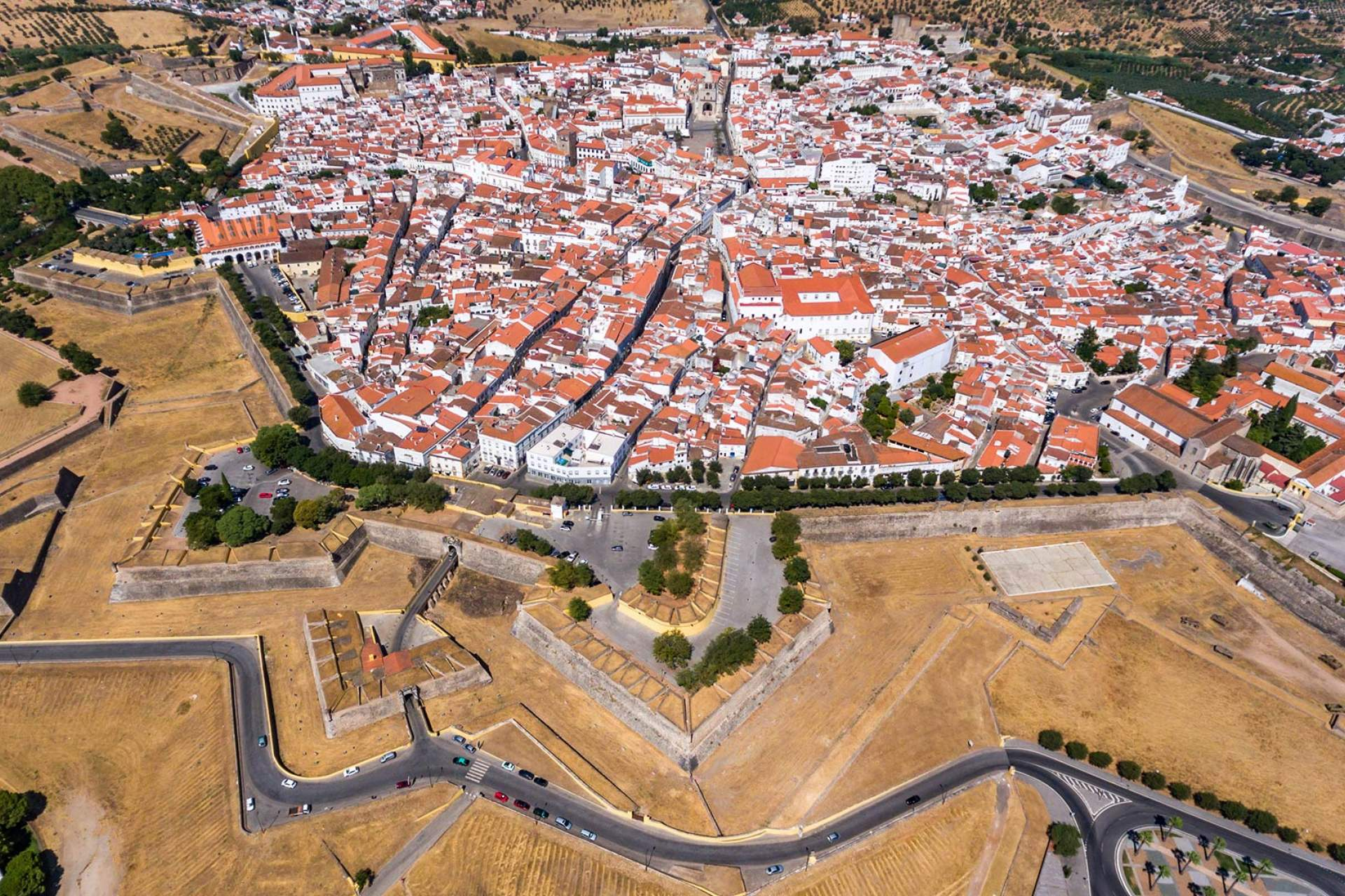 Aerial view of Elvas / Elvas / Turismo do Alentejo