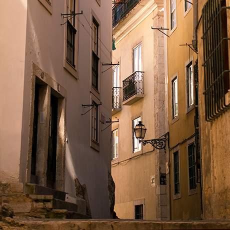 Judiaria Street, Alfama, Lisbon