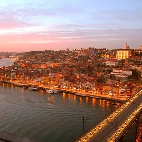 Por do sol, Porto